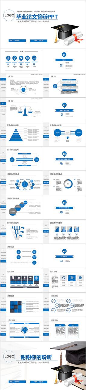 開題報告論文答辯畢業教育PPT模板