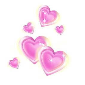 情人节双爱心漂浮装饰