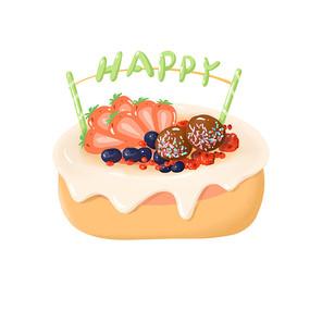 生日蛋糕插画