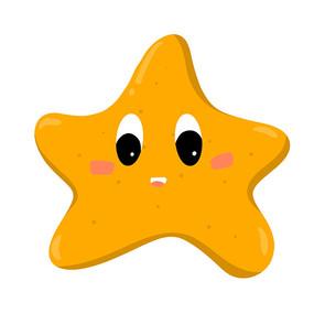 星星饼干插画素材