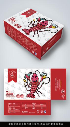 原创卡通小龙虾包装