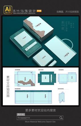 老白茶包裝設計矢量素材