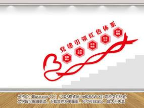 楼道红色物业文化墙
