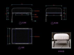 五金家具梳妆凳CAD凳子家具图库