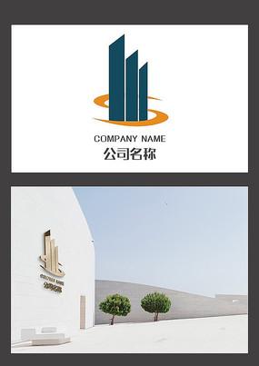 創意房地產logo建筑標志