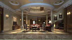欧式酒店3D模型椅