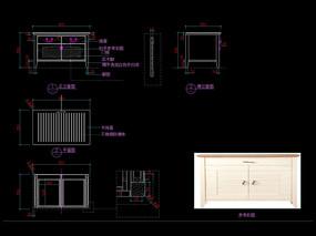 北欧家具电视柜CAD装饰柜图库