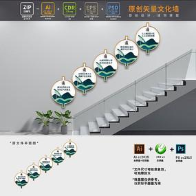 创意廉政楼梯文化墙