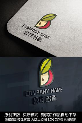 创意苹果logo标志水果商标设计