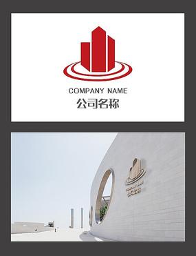 建筑元素环形房地产logo