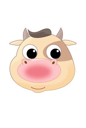 2021牛年可爱牛头设计元素