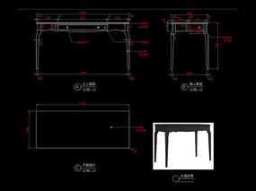 美式書桌CAD玄關桌裝飾臺圖庫