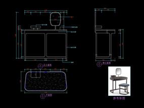 輕奢家具梳妝臺CAD玄關桌圖庫