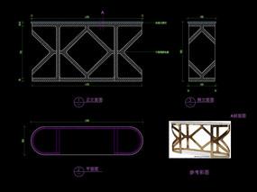 輕奢玄關桌CAD書桌五金桌子家具圖庫