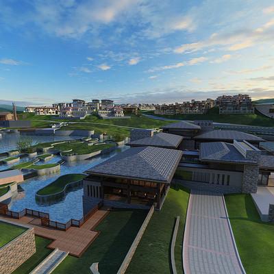 现代新中式别墅3D模型