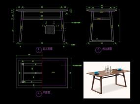 新中式書桌CAD辦公桌玄關桌圖庫