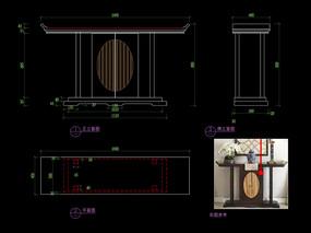 新中式玄關桌CAD裝飾臺C家具圖庫