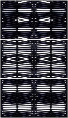 动感白色灯管面板闪动节奏舞台循环视频素材