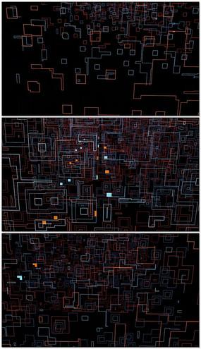 动感闪烁矩形背景舞台循环背景led视频素材