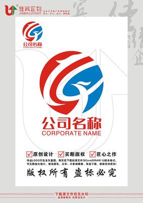 LX英文字母龙凤标志设计