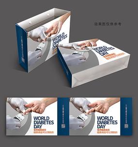 精美世界糖尿病日手提袋包装设计