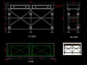 美式轻奢玄关桌CAD装饰台家具图库
