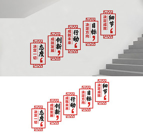 企业楼道励志标语文化墙