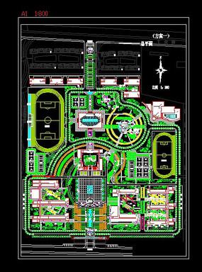 校园规划CAD图纸