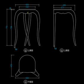 美式花架CAD玄关桌家具图库
