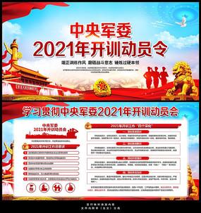 中央軍委2021年開訓動員令展板