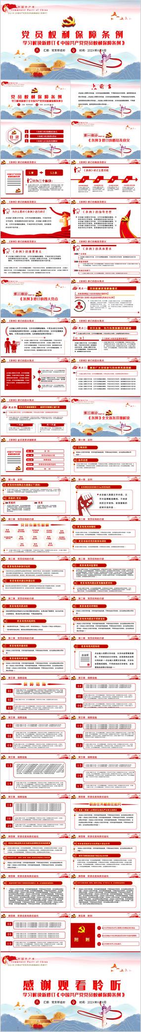 2021中国共产党党员权利保障条例党课PPT