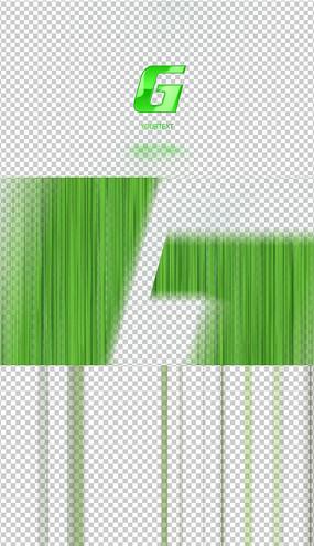 4K通用豎條logo綜藝轉場AE模板