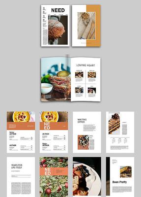 美食宣传画册版式设计