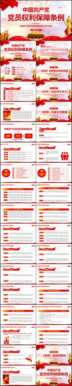 中国共产党党员权利保障条例党课PPT