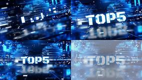 蓝色科技电竞体育比赛综艺转场视频模板