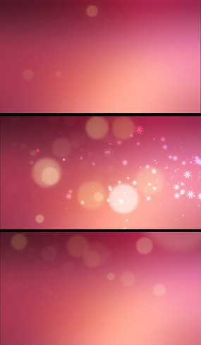 粉色光斑雪花动态背景视频素材