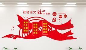 高端大气红色社会主义核心价值观展板
