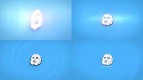 简约干净水波纹通用logo片头视频模板