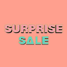 surprise sale美术字