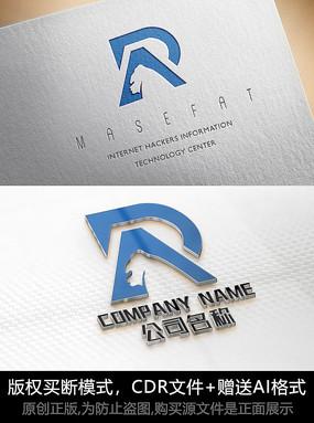 P字母logo标志公司商标设计