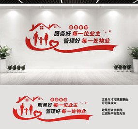 物业宣传标语文化墙