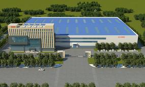 现代厂区建筑3D模型