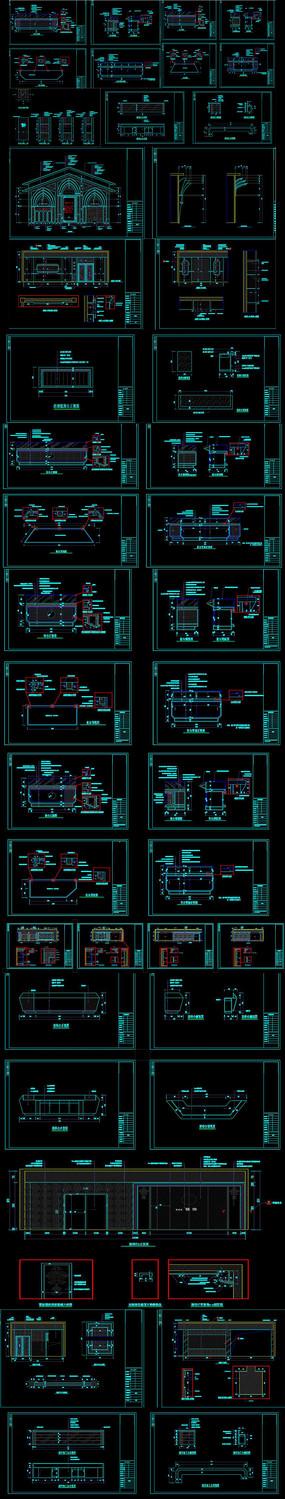 展厅展馆展柜CAD施工图
