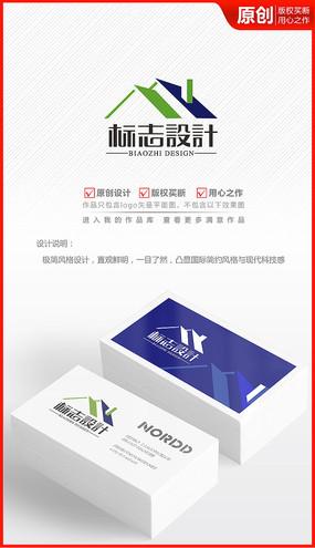 地产房屋装饰建材家装公司logo商标志
