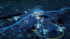 地球冲南京定位区位分析folder视频模板