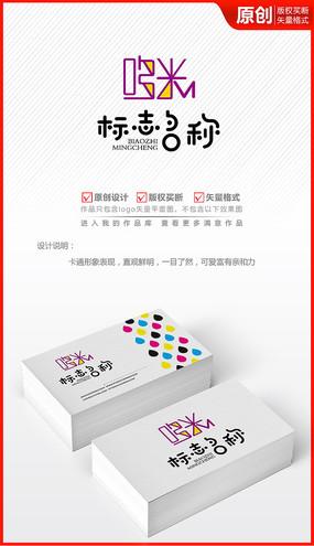 哆米字体卡通风格logo商标志设计