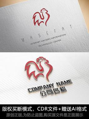 鸡logo标志公司商标设计