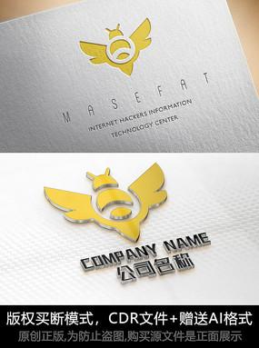 蜜蜂logo标志公司商标设计