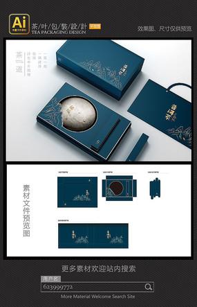 普洱茶高档饼盒包装设计