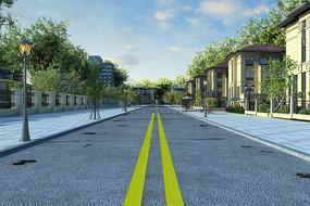 小区道路3D模型